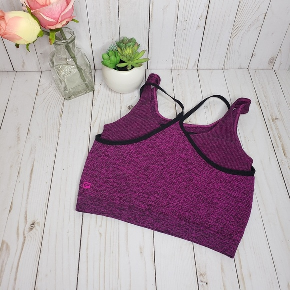 Fabletics Other - Fabletics Pink Dual Layer Sports Bra